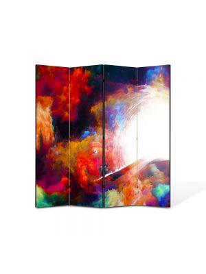 Paravan de Camera ArtDeco din 4 Panouri Abstract Decorativ Fantastic 140 x 150 cm