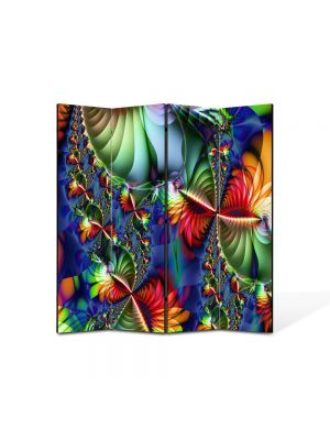 Paravan de Camera ArtDeco din 4 Panouri Abstract Decorativ Colaj trepte 140 x 150 cm