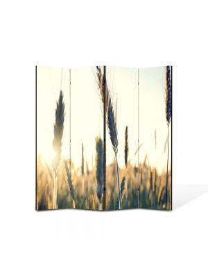 Paravan de Camera ArtDeco din 4 Panouri Abstract Decorativ Spice de grau 140 x 150 cm