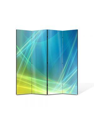 Paravan de Camera ArtDeco din 4 Panouri Abstract Decorativ Desktop 140 x 150 cm