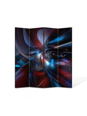 Paravan de Camera ArtDeco din 4 Panouri Abstract Decorativ Fizica 140 x 150 cm