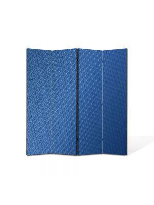 Paravan de Camera ArtDeco din 4 Panouri Abstract Decorativ Plasa 140 x 150 cm