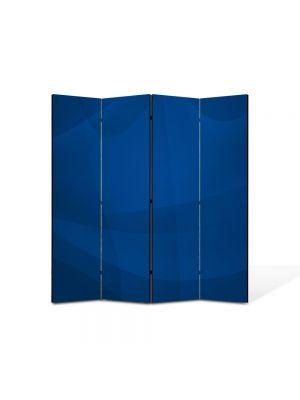 Paravan de Camera ArtDeco din 4 Panouri Abstract Decorativ Vartej albastru 140 x 150 cm