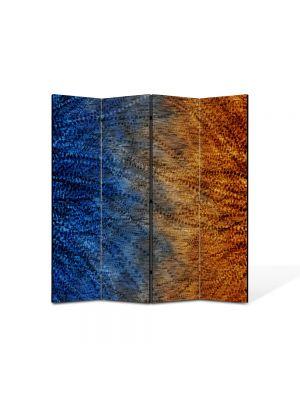 Paravan de Camera ArtDeco din 4 Panouri Abstract Decorativ Pana de paun 140 x 150 cm