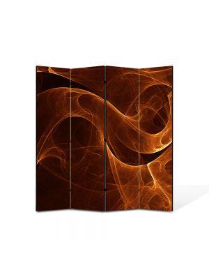 Paravan de Camera ArtDeco din 4 Panouri Abstract Decorativ Sarpe de foc 140 x 150 cm
