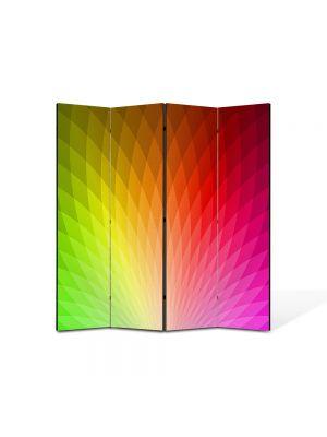 Paravan de Camera ArtDeco din 4 Panouri Abstract Decorativ Cromatica 140 x 150 cm