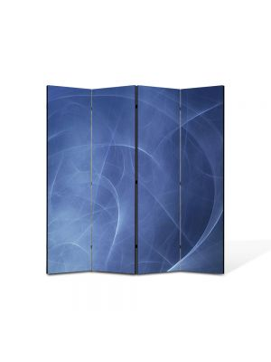 Paravan de Camera ArtDeco din 4 Panouri Abstract Decorativ Unde 140 x 150 cm