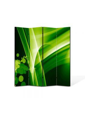 Paravan de Camera ArtDeco din 4 Panouri Abstract Decorativ Bule verzi 140 x 150 cm