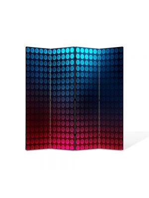 Paravan de Camera ArtDeco din 4 Panouri Abstract Decorativ Buline 140 x 150 cm