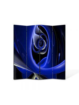 Paravan de Camera ArtDeco din 4 Panouri Abstract Decorativ Negura 140 x 150 cm