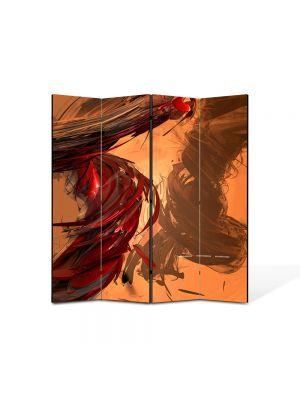 Paravan de Camera ArtDeco din 4 Panouri Abstract Decorativ Forfota 140 x 150 cm