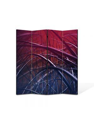 Paravan de Camera ArtDeco din 4 Panouri Abstract Decorativ Spice 140 x 150 cm