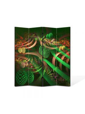 Paravan de Camera ArtDeco din 4 Panouri Abstract Decorativ Colaj 140 x 150 cm