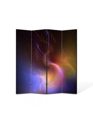 Paravan de Camera ArtDeco din 4 Panouri Abstract Decorativ In spatiu 140 x 150 cm
