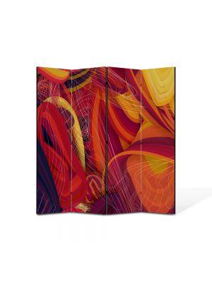 Paravan de Camera ArtDeco din 4 Panouri Abstract Decorativ Spirite 140 x 150 cm