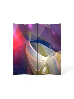 Paravan de Camera ArtDeco din 4 Panouri Abstract Decorativ Lumini blande 140 x 150 cm