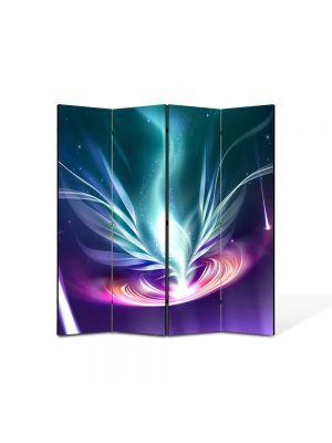 Paravan de Camera ArtDeco din 4 Panouri Abstract Decorativ Energie 140 x 150 cm