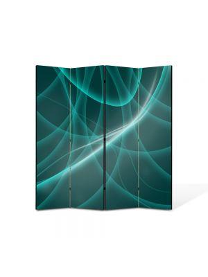 Paravan de Camera ArtDeco din 4 Panouri Abstract Decorativ Dare de lumina 140 x 150 cm