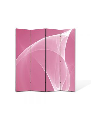 Paravan de Camera ArtDeco din 4 Panouri Abstract Decorativ Roz pal 140 x 150 cm