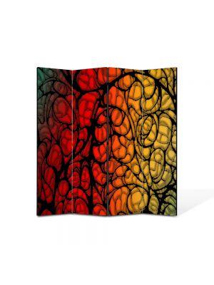 Paravan de Camera ArtDeco din 4 Panouri Abstract Decorativ Natura 140 x 150 cm