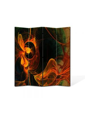 Paravan de Camera ArtDeco din 4 Panouri Abstract Decorativ Foc 140 x 150 cm