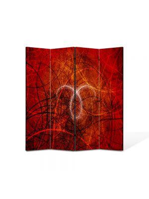 Paravan de Camera ArtDeco din 4 Panouri Abstract Decorativ Taur 140 x 150 cm