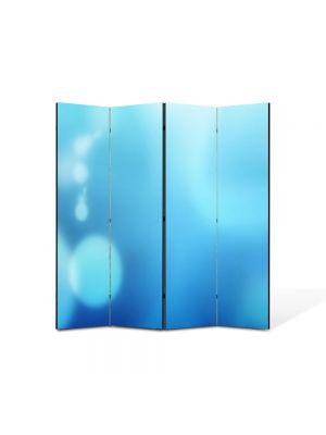 Paravan de Camera ArtDeco din 4 Panouri Abstract Decorativ Cer senin 140 x 150 cm