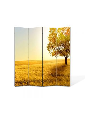 Paravan de Camera ArtDeco din 4 Panouri Peisaj Copac in umbra 105 x 150 cm