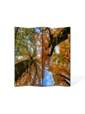 Paravan de Camera ArtDeco din 4 Panouri Peisaj Doi copaci de jos 105 x 150 cm