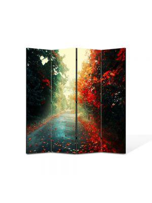 Paravan de Camera ArtDeco din 4 Panouri Peisaj Sosea dupa ploaie 105 x 150 cm