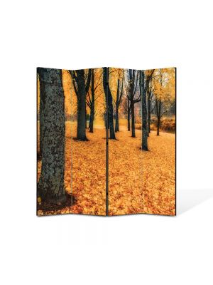 Paravan de Camera ArtDeco din 4 Panouri Peisaj Toamna in padure 105 x 150 cm