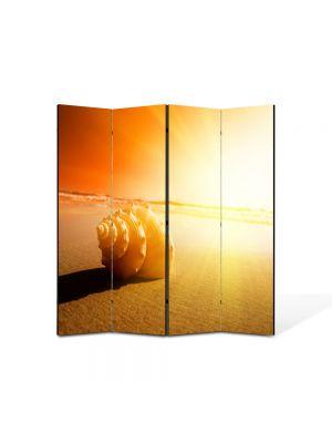 Paravan de Camera ArtDeco din 4 Panouri Peisaj Scoica 105 x 150 cm