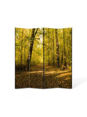 Paravan de Camera ArtDeco din 4 Panouri Peisaj Vine toamna 105 x 150 cm