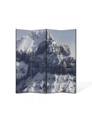 Paravan de Camera ArtDeco din 4 Panouri Peisaj Creste de munti 105 x 150 cm