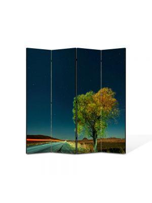 Paravan de Camera ArtDeco din 4 Panouri Peisaj Viteza 105 x 150 cm