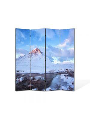 Paravan de Camera ArtDeco din 4 Panouri Peisaj Cel mai inalt munte 105 x 150 cm