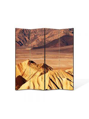 Paravan de Camera ArtDeco din 4 Panouri Peisaj Dune de nisip 105 x 150 cm