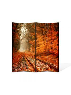 Paravan de Camera ArtDeco din 4 Panouri Peisaj Vesnic 105 x 150 cm