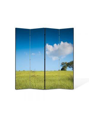 Paravan de Camera ArtDeco din 4 Panouri Peisaj 105 x 150 cm