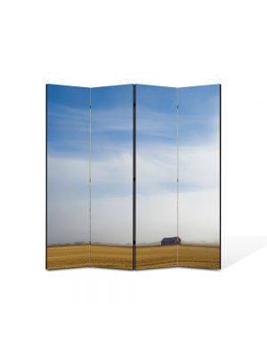 Paravan de Camera ArtDeco din 4 Panouri Peisaj Liniste 105 x 150 cm
