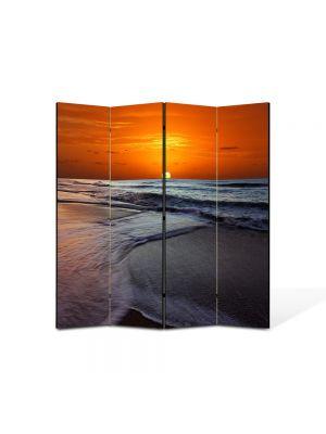 Paravan de Camera ArtDeco din 4 Panouri Peisaj Soare sub apa 105 x 150 cm