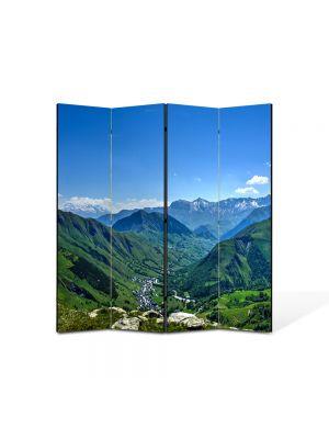 Paravan de Camera ArtDeco din 4 Panouri Peisaj Venezuela 105 x 150 cm
