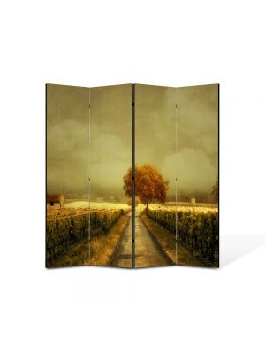 Paravan de Camera ArtDeco din 4 Panouri Peisaj Arta contemporana 105 x 150 cm