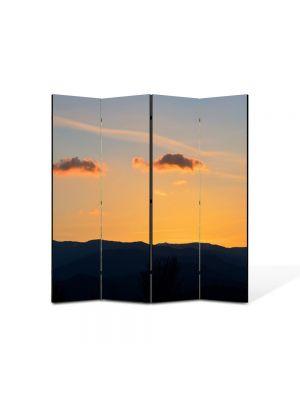 Paravan de Camera ArtDeco din 4 Panouri Peisajrse de nori 105 x 150 cm