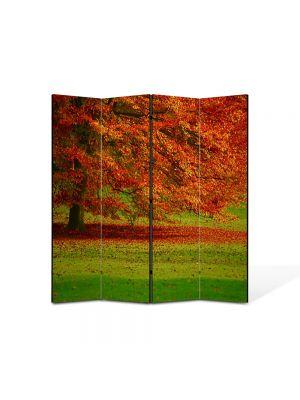 Paravan de Camera ArtDeco din 4 Panouri Peisaj Copac in campie 105 x 150 cm