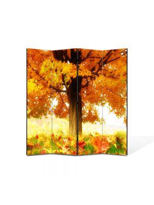 Paravan de Camera ArtDeco din 4 Panouri Peisaj La umbra copacului 105 x 150 cm
