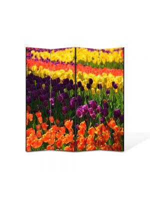 Paravan de Camera ArtDeco din 4 Panouri Peisaj Macro Olanda 105 x 150 cm
