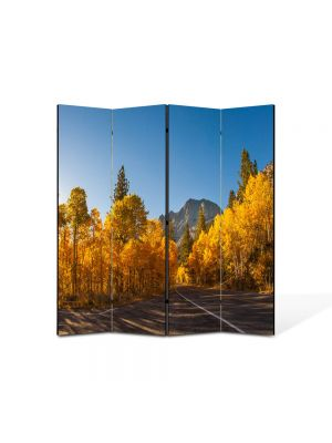 Paravan de Camera ArtDeco din 4 Panouri Peisaj Prin Canada 105 x 150 cm