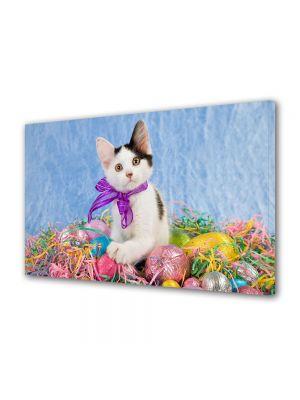 Tablou Canvas Sarbatori Paste Pisica simpatica
