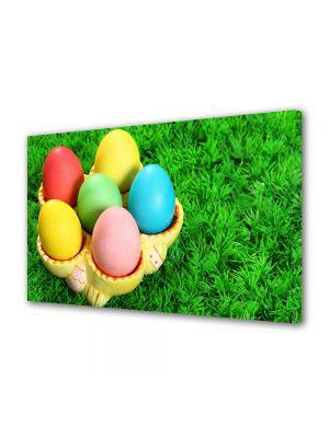 Tablou Canvas Sarbatori Paste Ansabmlu frumos de oua colorate